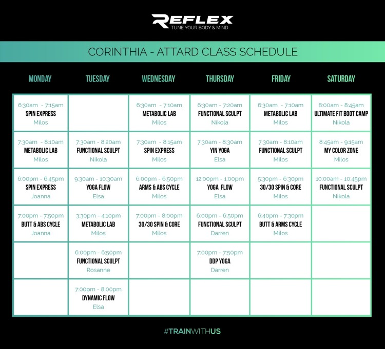 Reflex Corinthia Classes