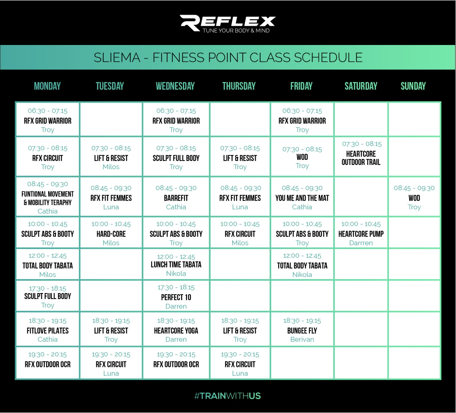 Reflex Sliema Classes